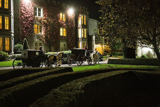 Carriages outside east wing.jpg