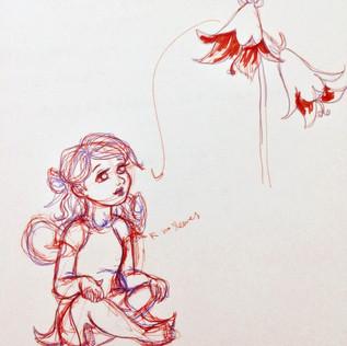 Creeping Bellflower Concept Sketch