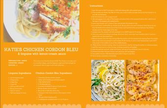 Chicken Cordon Bleu Recipe Card