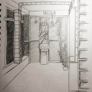 Isabella Stewart Gardner Cloister Sketch