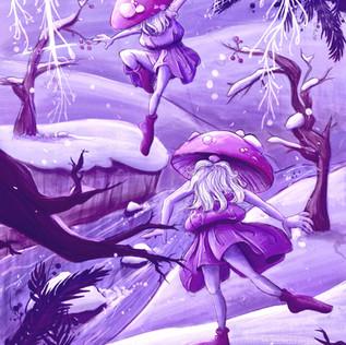 Gnomes in Violet