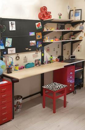 Réalisation d'un bureau enfant sur mesure
