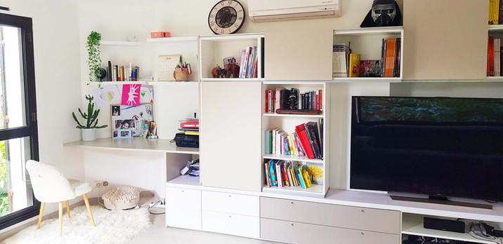 Aménagement d'un espace bibliothèque
