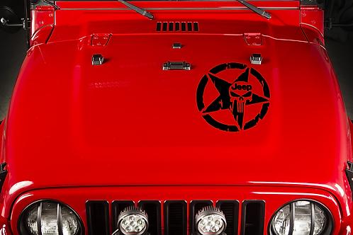 Jeep Skull Hood Decal