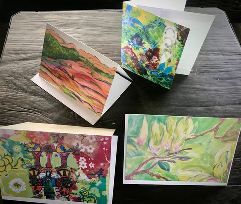Set of 4 Art Greetingcards