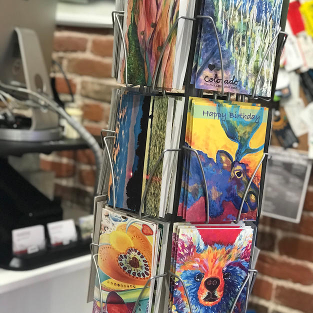 Greeting cards also for Sale at Experimax, 436 Main St. Longmont