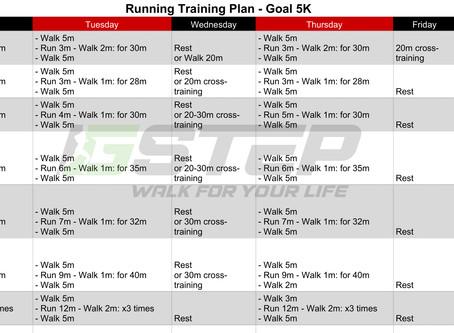 7-week 5K Training Plan for Beginner