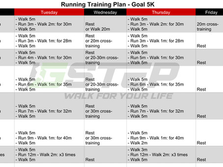 7-week 5K Training Plan for Beginner