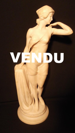 Sculpture en albâtre Art Déco