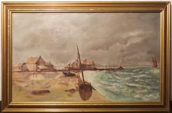 Tableau : port de pêche