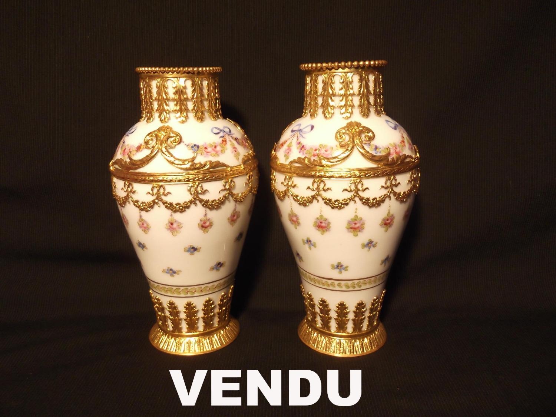 Paire de vases de Sèvres XIXe