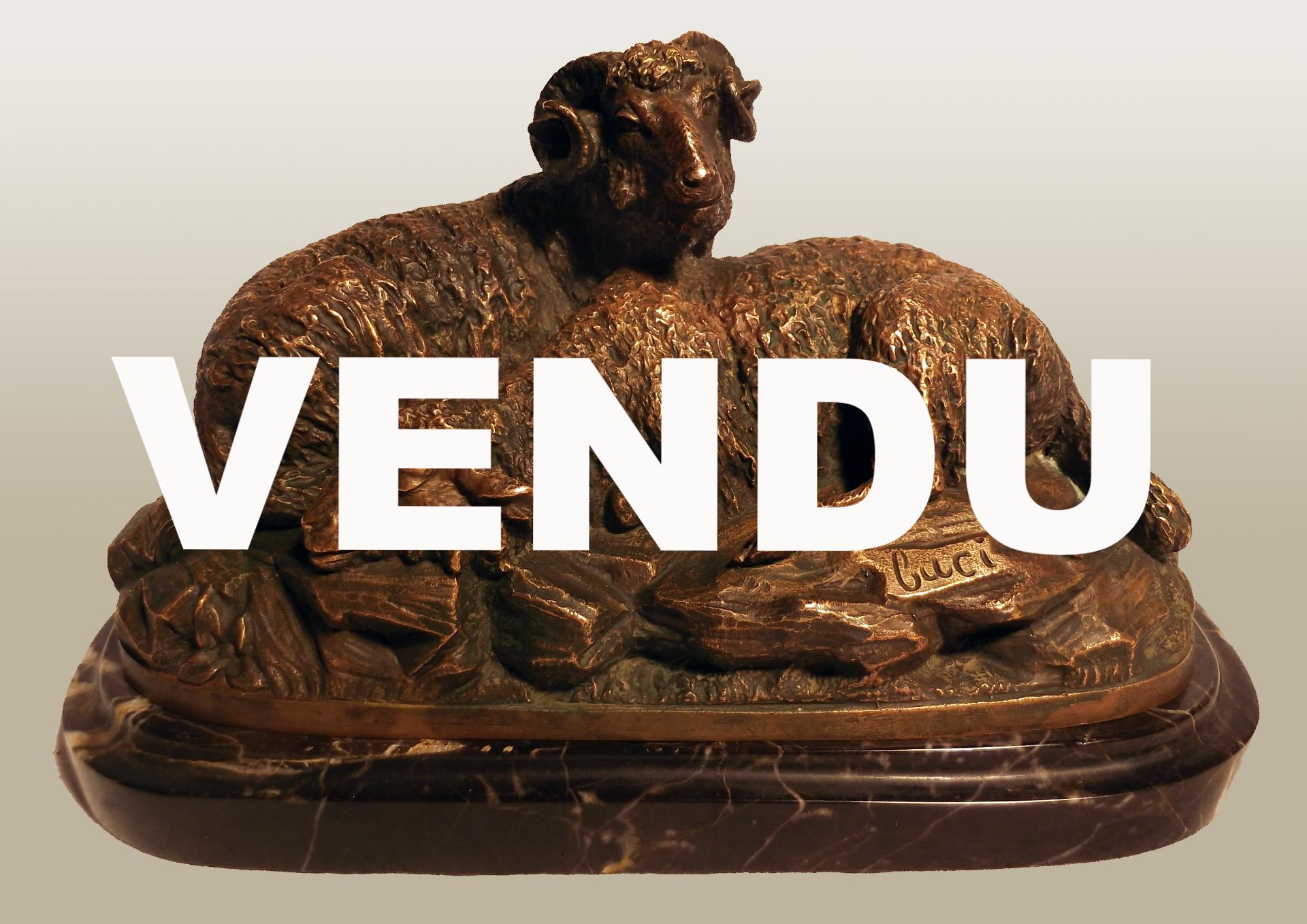 Bronze animalier signé buci bélier