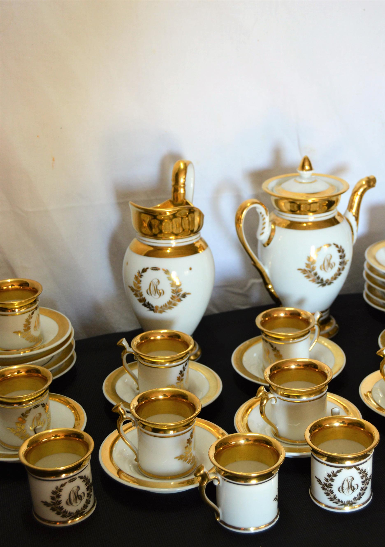 Service à Café En Porcelaine De Style Empire