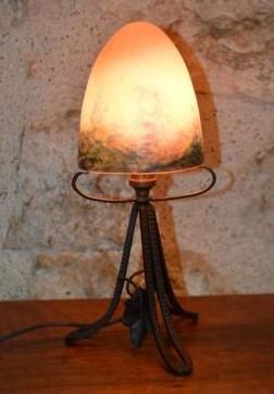 """""""Petite Lampe ou Veilleuse Art Déco - Le Verre Français."""""""