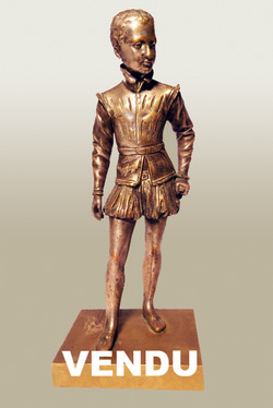 Bronze signé Bosio : Henri IV enfant
