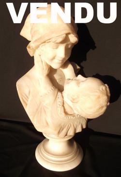 Buste en marbre signé romanelli