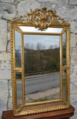 """""""Miroir à Parecloses d'époque Napoléon III"""""""