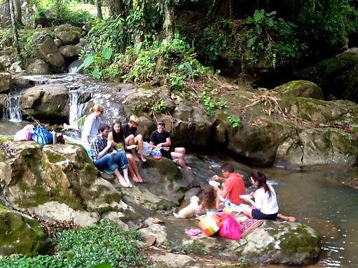 Picnic along Serenity Gardens Eco Village river