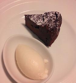 ガトーショコラと生姜のアイス
