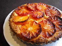 ブラッド(タロッコ)オレンジのタルト