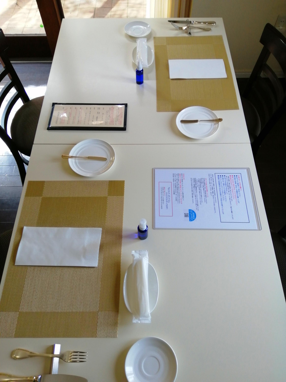 2名様のテーブル配置
