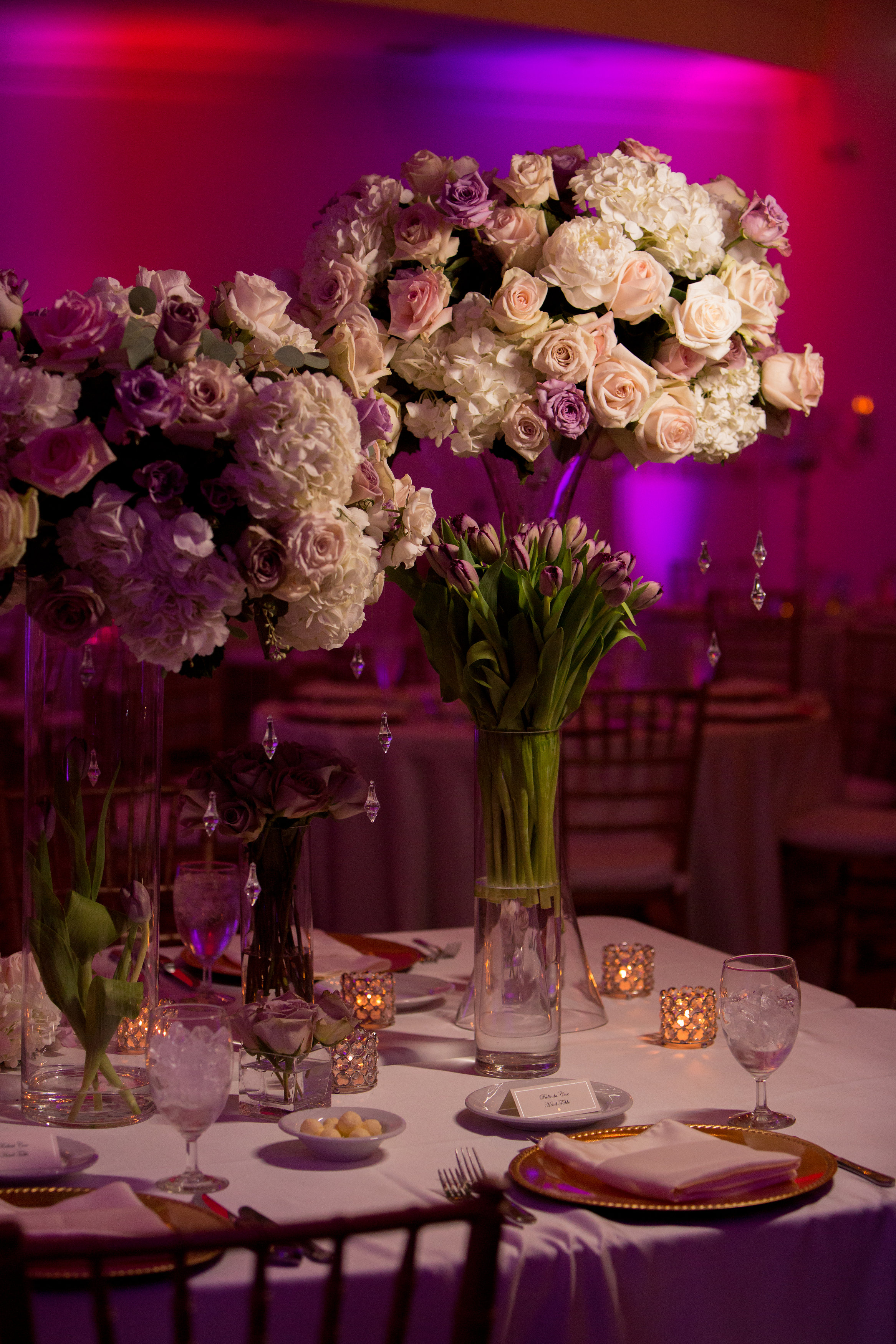 Lavender and Blush Wedding Reception