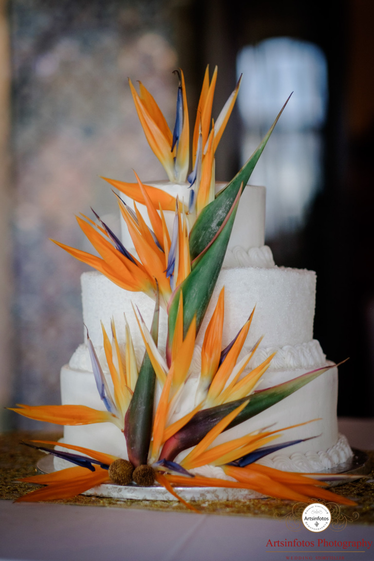 Exotic Cake Flowers | Nicole + Tim