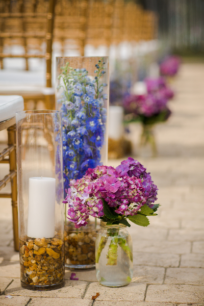 Ceremony Aisle Flowers
