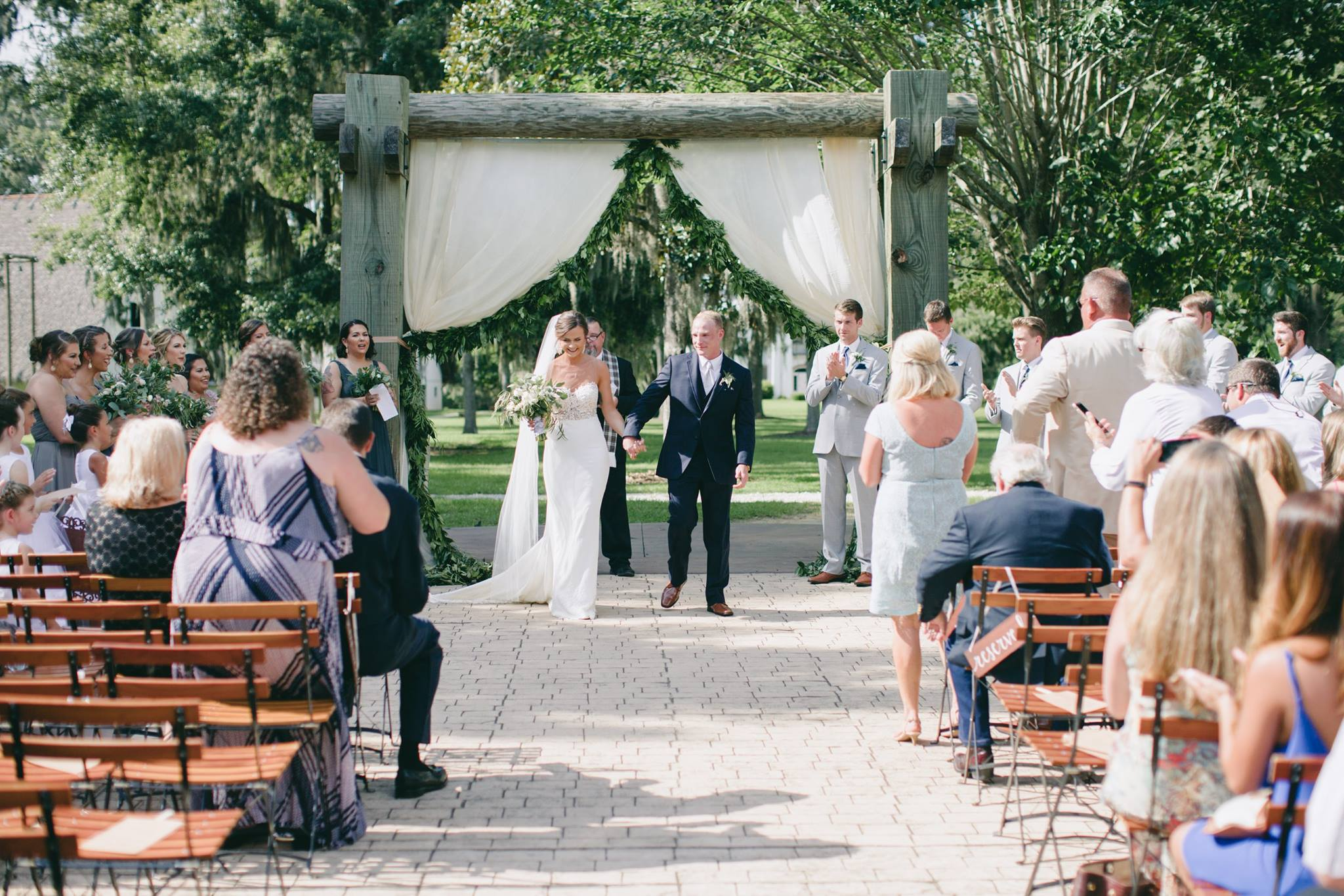 Outdoor Ceremony Garland + Drape