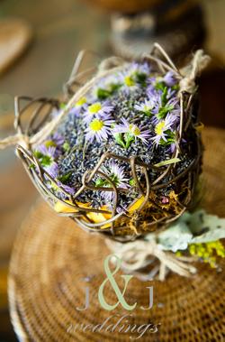 Fresh Lavender Flower Girl Basket