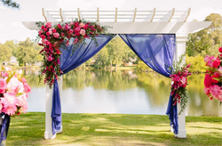 Navy + Pink Ceremony Pergola