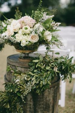 Rustic Elegant Ceremony Flowers