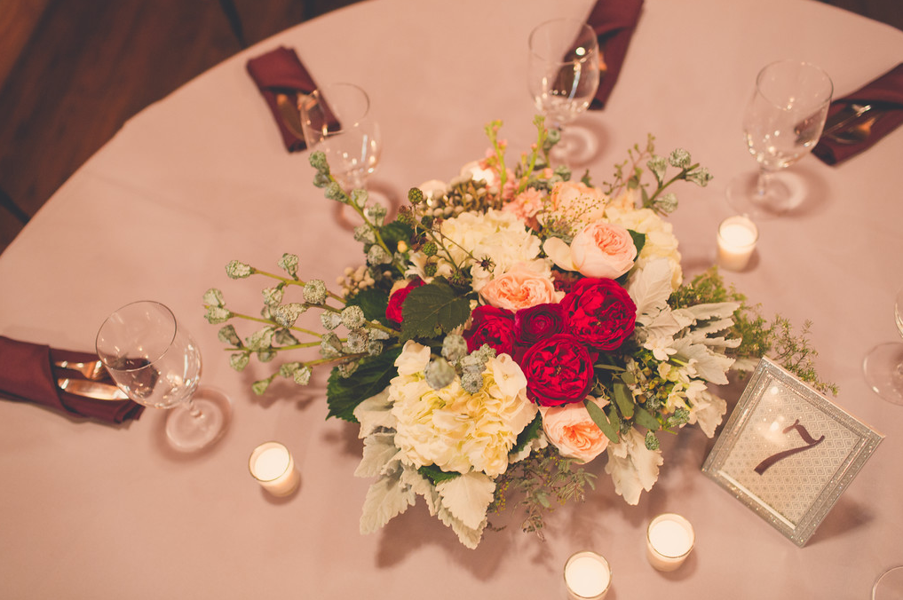 Rustic, chic centerpiece