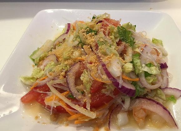 Salade de crevettes et vermicelle transparent