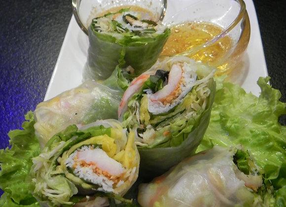 Rouleaux de printemps moit/moit crevettes et poulet (2 pièces)
