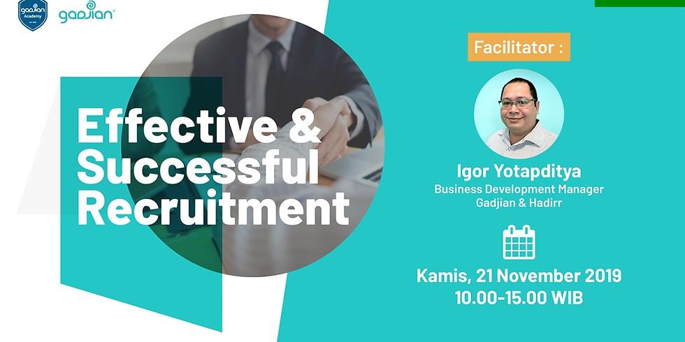 [BANDUNG] Effective & Successful Recruitment