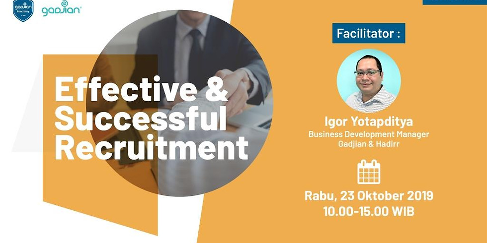 [SURABAYA] Effective & Successful Recruitment