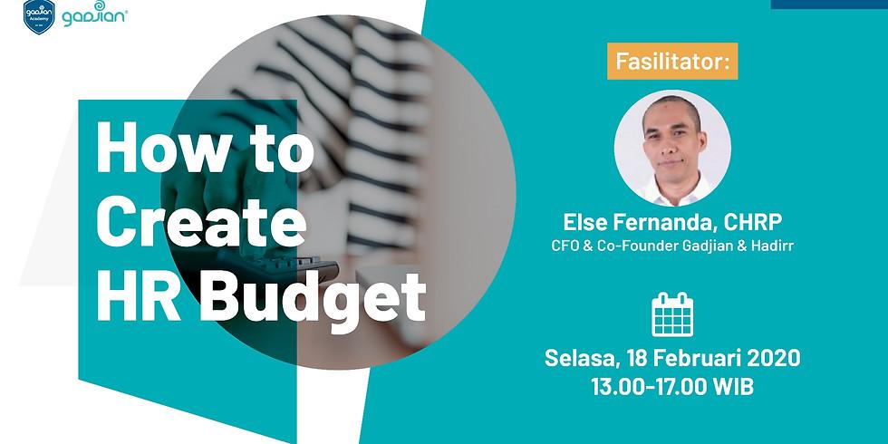 [SURABAYA] How to Create HR Budget 2020
