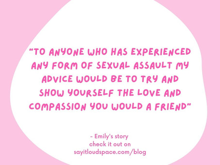 Finding a community that is having open conversations about sexual violence has changed my life.
