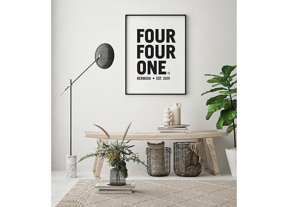 Four Four One Bermuda area code print