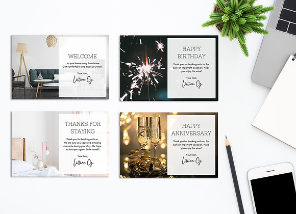 Airbnb + VRBO Guest Cards