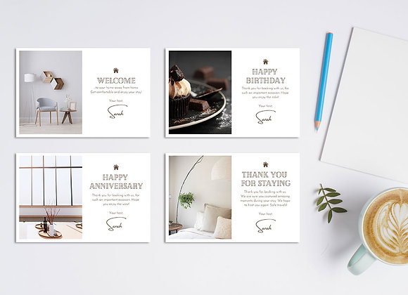 VRBO + Airbnb Guest Cards