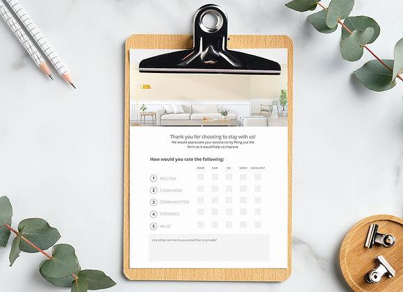 Airbnb Feedback Form