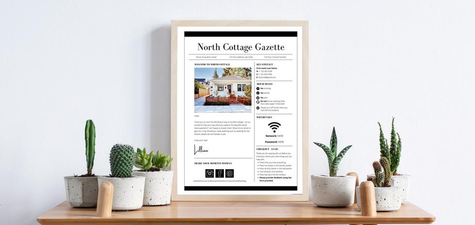 Airbnb Gazette Template
