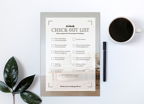 Airbnb + VRBO Check-out List