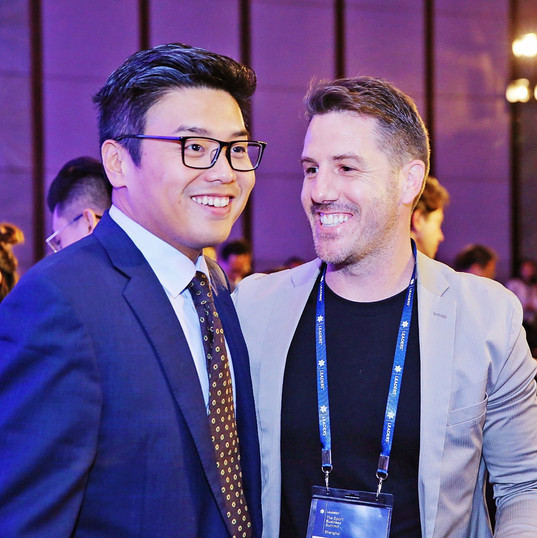 Mailman CEO Andrew Collins (Right) and IMG China CEO Michael Ma (Left) at Leaders in Shanghai 2019