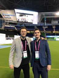 David Hornby and Denis Green at Soccerex Miami