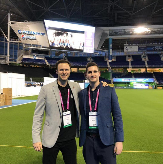 David Hornby (VP Sports) and Denis Green (Head of PR) in Miami at Soccerex 2018