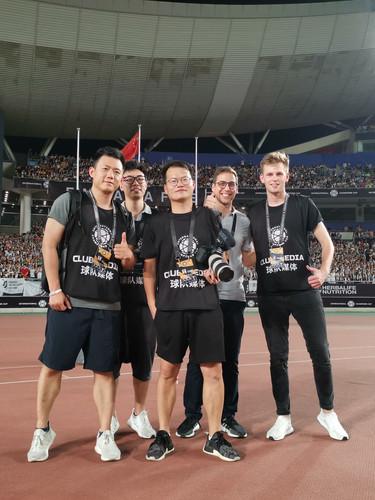 Mailman team on Tour in Singapore with Juventus