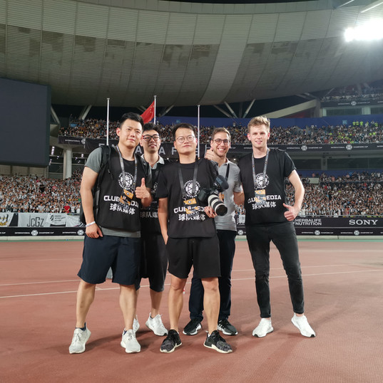 The team in Singapore for the Juventus Asia Summer Tour 2019